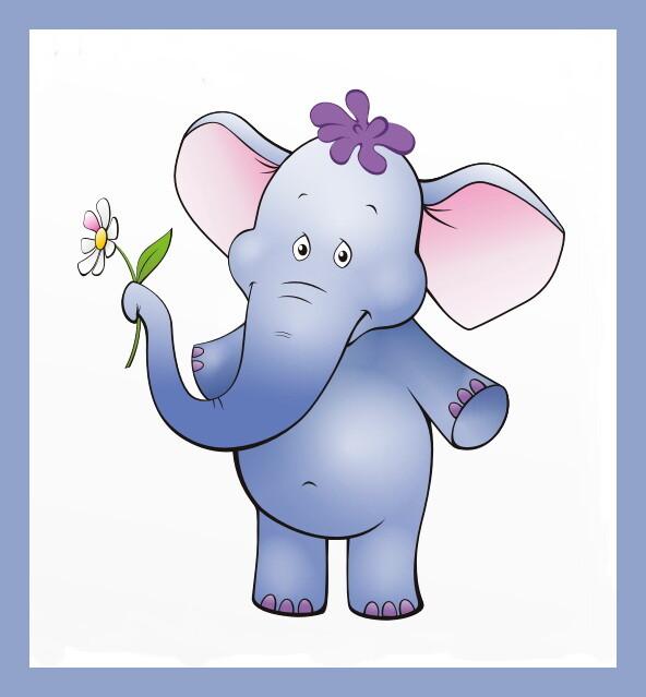 Слоник для открытки, открытки февраля